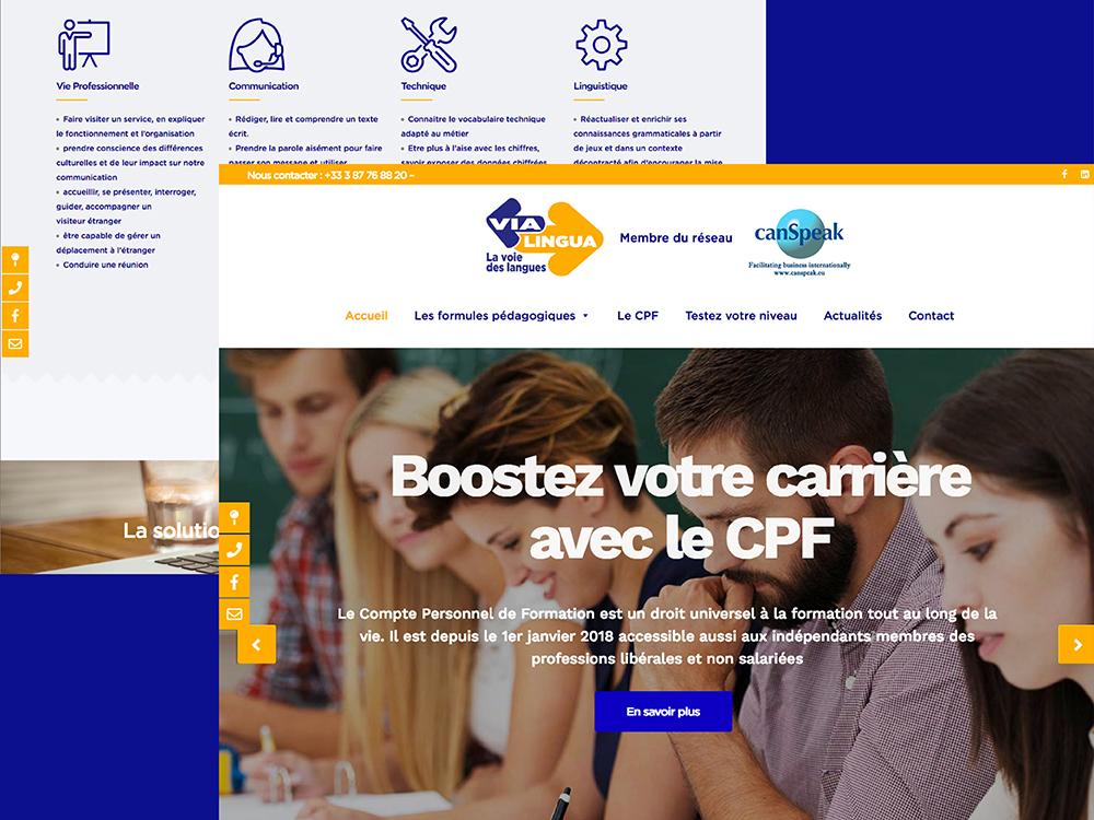 UXICOM Site Entreprise de Formation linguistique