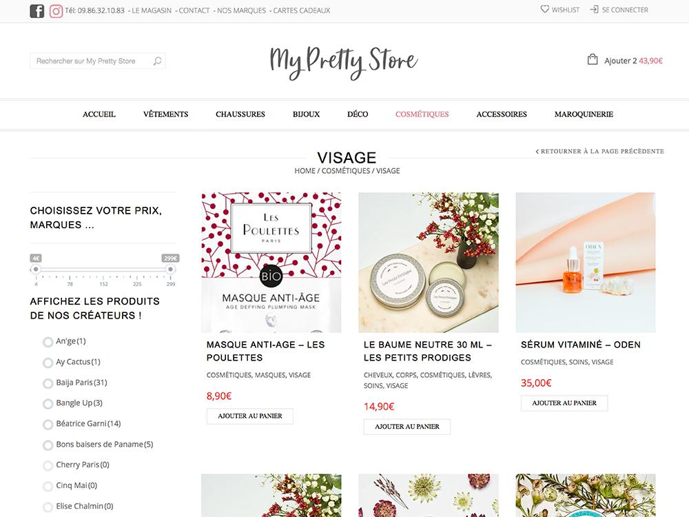 UXICOM Site e-commerce - Mode et accessoires